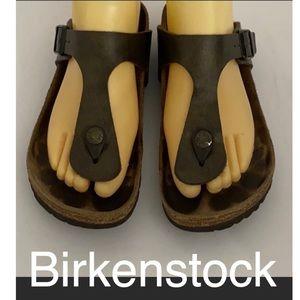 Authentic Birkenstock brown sandals sz 6
